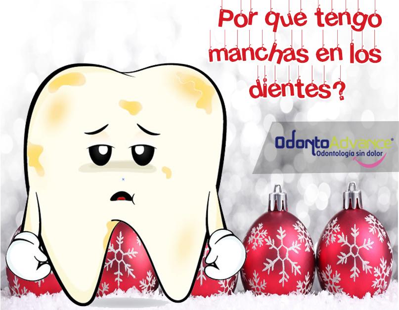 ¿Por qué tengo manchas en los dientes?